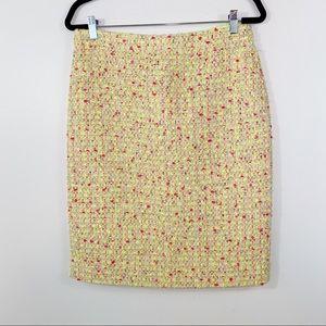 J. Crew No. 2 Pencil Skirt in Neon Tweed - Size 6